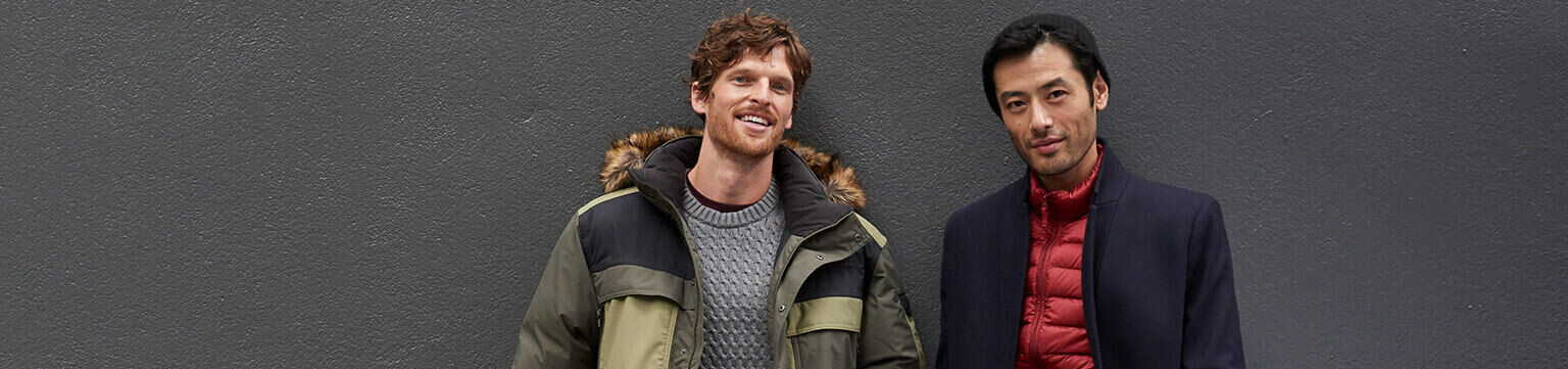 Men's coats up to 60% off.