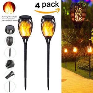 1-4-Pack-DEL-96-etanche-solaire-torche-Tiki-Light-Dancing-clignotante-flamme-lampe