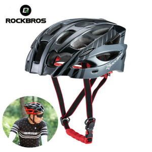RockBros Cycling Road Mountain Bike Bicycle Helmet Size L 57cm-62cm Blue Black