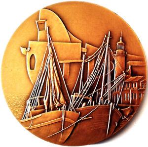 Symbole De La Marque Camargue. Le Port .grande Medaille Bronze 5 Cm.monnaie De Paris Une Grande VariéTé De ModèLes