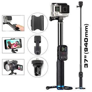 extendable telescopic monopod selfie pole handheld stick for gopro hero 5 4 3 2 ebay. Black Bedroom Furniture Sets. Home Design Ideas