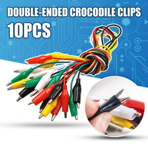 Portable-10pcs-Set-Alligator-Clips-Test-Lead-Crocodile-Electrical-Clamps-Arduino