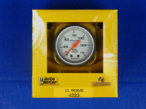 Auto Meter 4323 Ultra Lite Oil Pressure Gauge 0-150 PSI Mechanical 2 1//16