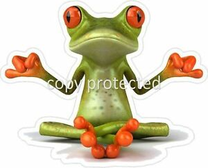 Funny-Frog-Yoga-Big-Bumper-Sticker-Car-Caravan-Rv-Ute-4x4-4wd-Decal-Ipad-tablet