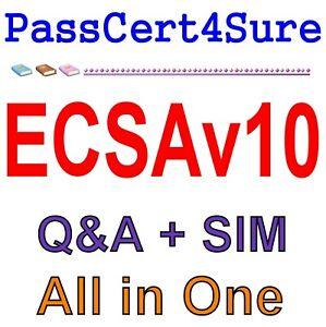 Details about EC-Council Certified Security Analyst (ECSA) v10 ECSAv10 Exam  Q&A PDF+SIM