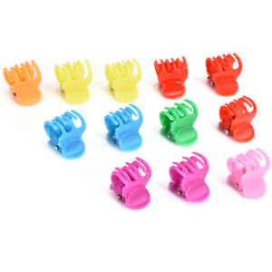 20x-Colorful-Assorted-Mini-Small-Plastic-Hair-Clips-Claws-Clamps-Kids-New-TR