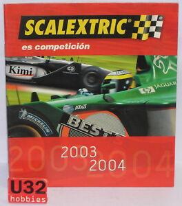 Kinderrennbahnen Scalextric Tecnitoys Katalog Slot Car Jahr 2003/2004 Neu 40 Seiten
