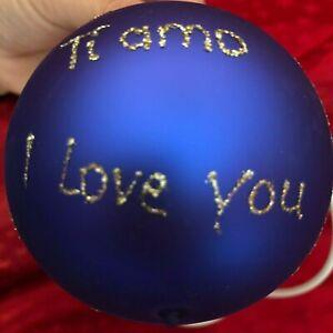 Liebeskugel Ich liebe Dich - I love you - Ti amo -Je t'aime Baumkugel Glaskugel