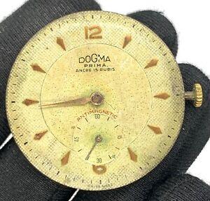 Dogma-Prima-Cal-comme-1130-Main-Manuel-Vintage-34-1-mm-Pas-Marche-pour-Pieces