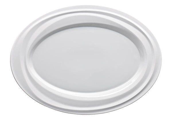 Rosanthal - Porzellan - Nendoo weiss  Platte oval    34 x 25 cm - neu c2cdc7
