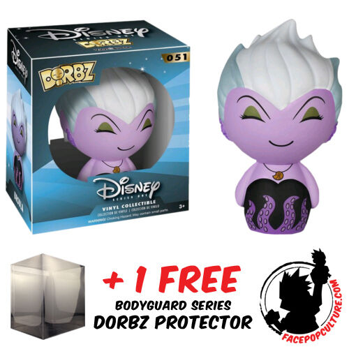 FREE DORBZ PROTECTOR FUNKO DORBZ DISNEY THE LITTLE MERMAID URSULA VINYL FIGURE