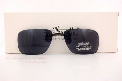 668494584cf1 Details about New Silhouette Eyeglasses Clip on 5076 Pattern 5446 GRAY  POLARIZED SZ 52 19
