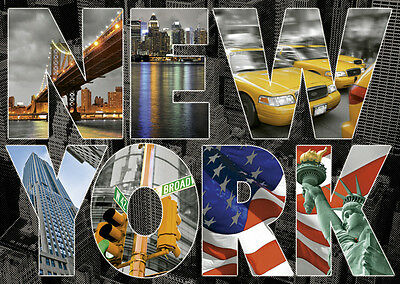 PUZZLE 1000 PIEZAS TEILE PIECES - COLLAGE NEW YORK EDUCA 16288