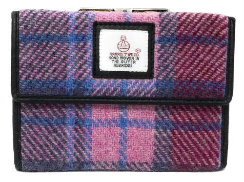 Harris Tweed Pink Tartan Clasp Purse Boxed