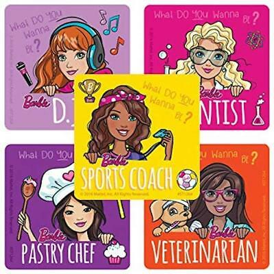25 Barbie Sports  Stickers Party Favors Teacher Supply Mattel soccer surf