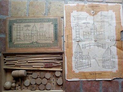 Antico Gioco Di Costruzioni Antiquariato Forse 1886 Guarda Descrizione Foto