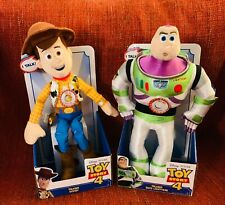"Toy Story 4 Talking Buzz Lightyear Plush 13/"" Disney Pixar"