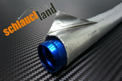 1m Alu-Titan Hitzeschutzschlauch selbstklebend ID 15mm *** Wärmeschutz Aluminium