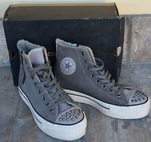 Dettagli su Converse All Star Platform Original - n. 40- Walnut Grey Scamosciate - Unisex