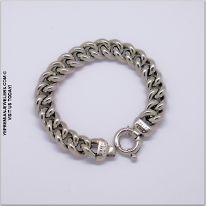 925-STERLING-SILVER-CHAIN-LINK-BRACELET-MILOR-ITALY-VINTAGE-BEST-OFFER