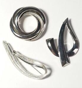 2 Vintage Silver Tone Pins