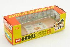CORGI TOYS 1/43 BOITE VIDE FORD GT 70 #316 & PLANCHE AUTOCOLLANT ONLY BOX