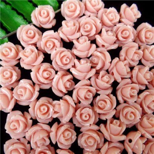 10Pcs Venta por mayor Bonito Flor Rosa Tridacna Tallada Colgante Perla 10*8mm HH5336