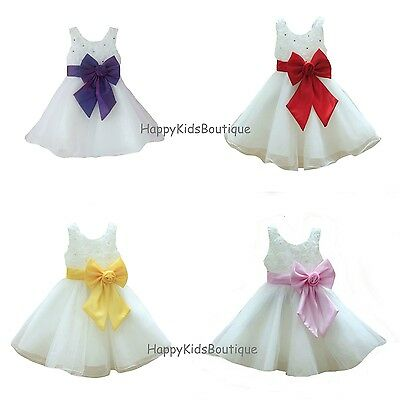 Girls Christmas Party Dress Bridesmaid Dress Christening Wedding Prom Pageant