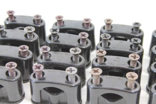 Alte Bakelit Kabelklemmen mit Schrauben Size S Aufputz Schalter Steckdose Kabel