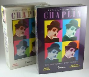 Charlie-Chaplin-Early-Masterpieces-Artist-in-His-Prime-TWO-NEW-DVD-Sets