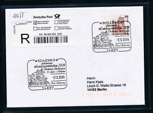 10055) Reco-lettre Ef 2,61 € Do. - Nom. Sst 2006 Schleswig Legge, Fleurs-afficher Le Titre D'origine Parfait Dans L'ExéCution