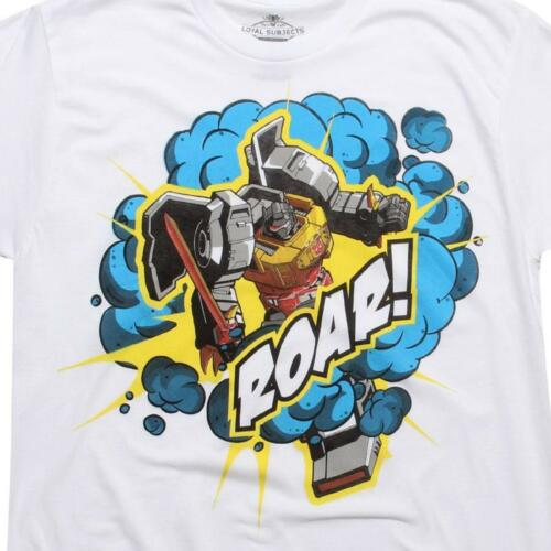 Tee Sket One G $30.00 The Loyal Subjects x Transformers Grimlock Roar white