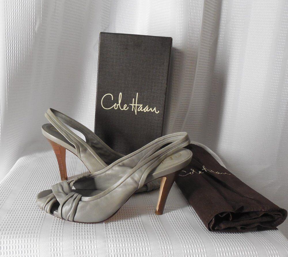 COLE HAAN Slingback Schuhes Größe 10 B gray style Natalie open toe NEW NIB