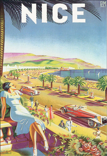 Art Poster Travel Vacation Holiday A3 Print France Nice French Deco