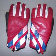 Vintage red white blue leather ladies racing loves small made in Japan
