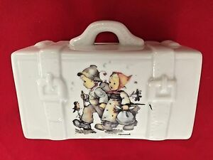 Multi-3X5-034-Suit-Case-with-Hummel-Pictures-Piggy-Bank-Marked