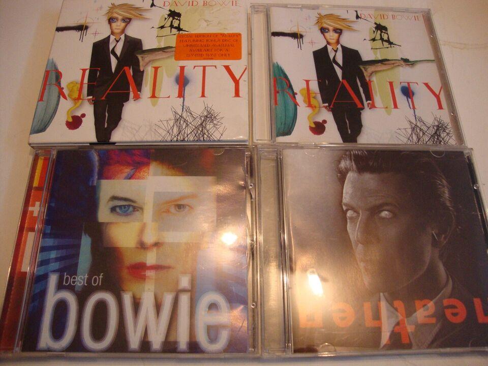 DAVID BOWIE. : 4 stk David Bowie. 1 Dobbelt., rock