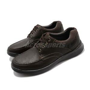 Clarks-Cotrell-Edge-Brown-Oily-Leather-Men-Casual-Lace-Up-Lightweight-Shoes