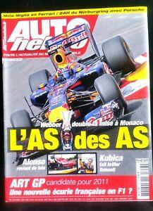 Agressif Auto Hebdo Du 19/5/2010; Mark Webber Double La Mise à Monaco/ Art Gp/ 24h Nürbur