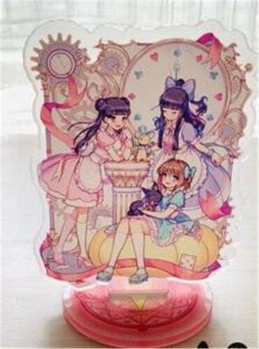 Card Captor Sakura Kinomoto Tomoyo Acrylic Decal Desk Display Stand 2-Side N