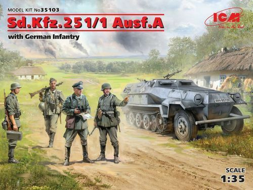 ICM SD.KFZ.251 1 AUSF.A WITH GERMAN INFANTRY 1 35 cod.35103