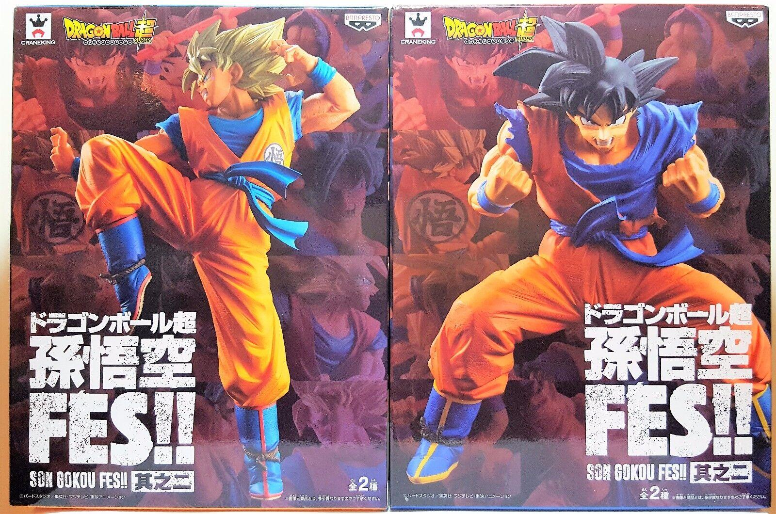 Dragonball Super Fes 2 Lot Son Gokou & Super Saiyan Son Gokou Banpresto Figure