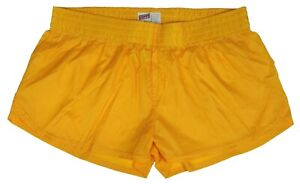 Gold-Shiny-Short-Nylon-Shorts-by-Soffe-Size-Medium