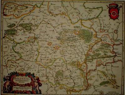 Geschickt Historische Landkarte Mainz Mentz Moguntini 1658 Auf Dem Internationalen Markt Hohes Ansehen GenießEn