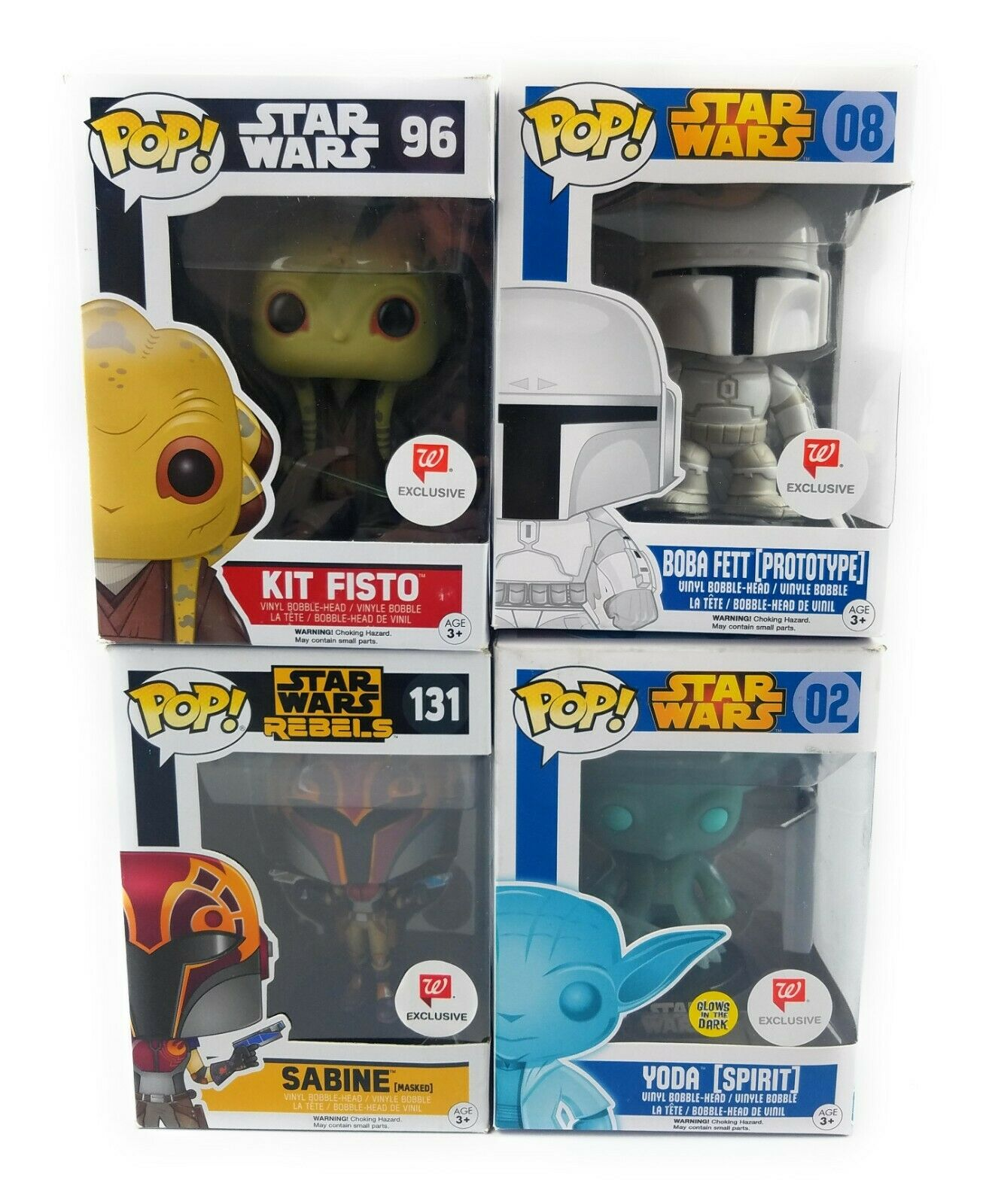 Star Wars Funko Pop 4 Pop Collection Walgreens Exclusive Damaged Box