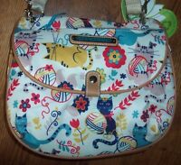 Lily Bloom Furry Friends Cats Quinn Shoulder Bag Purse Eco Recycled Bottles