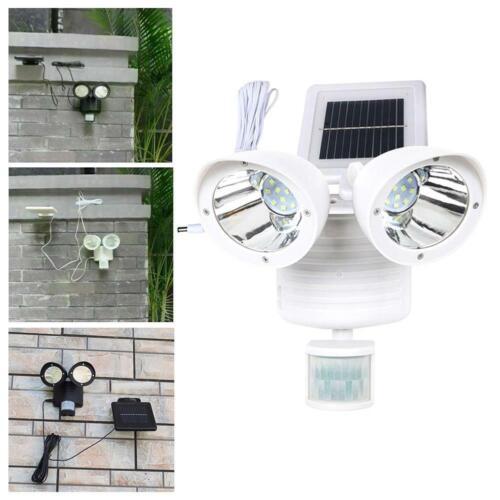 22LED Dual Security Detector Solar Spot Light Motion Sensor Outdoor Floodlight