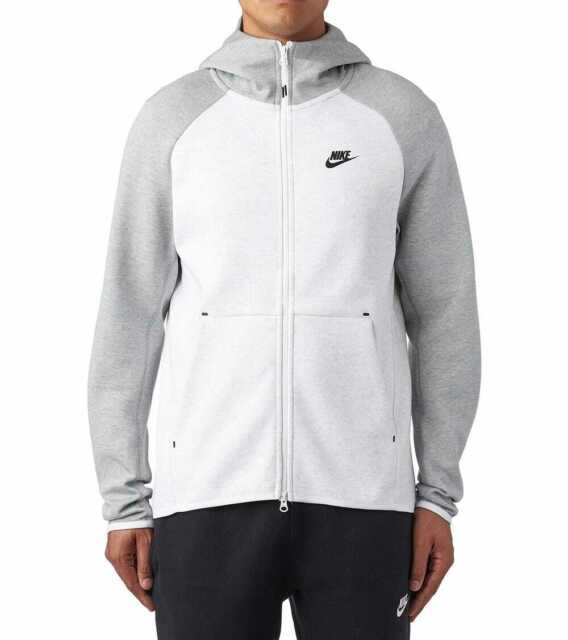 Nike Tech Fleece Hoodie CHOOSE SIZE 928483 052 Bone Birch Heather Grey White