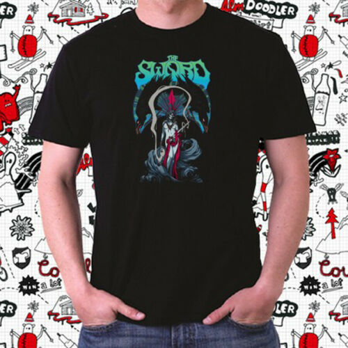 The Sword Band Heavy Metal Band Logo Men/'s Black T-Shirt Size S to 3XL