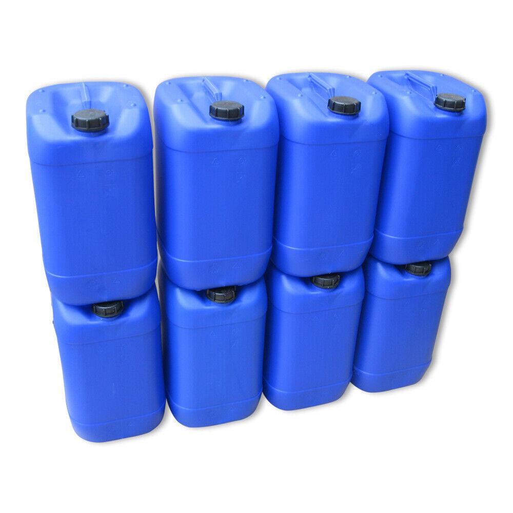 8 x 25 Liter Kanister blau Camping Plastekanister Kunststoffkanister gebraucht gebraucht gebraucht 38fb16